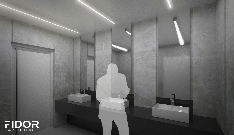 """Toaleta publiczna w Katowicach, konkurs """"Koło""""."""